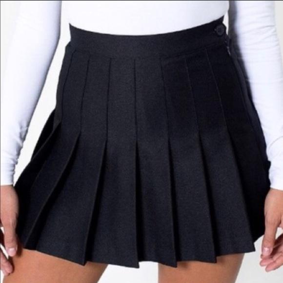 22ab38ba32 American Apparel Skirts | Black Pleated Skirt | Poshmark